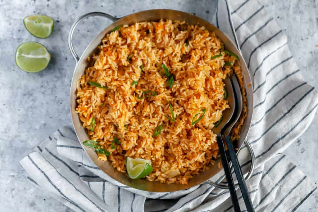 Spicy mexican rice ready to serve