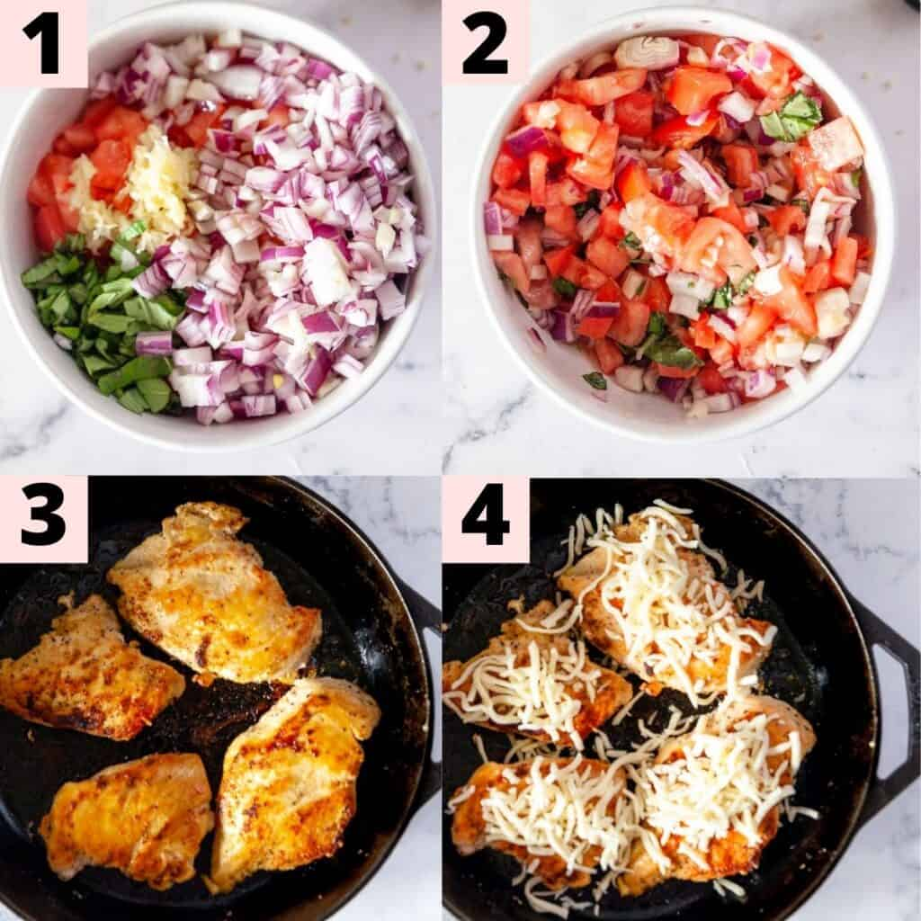 Step by step instructions to prepare the recipe