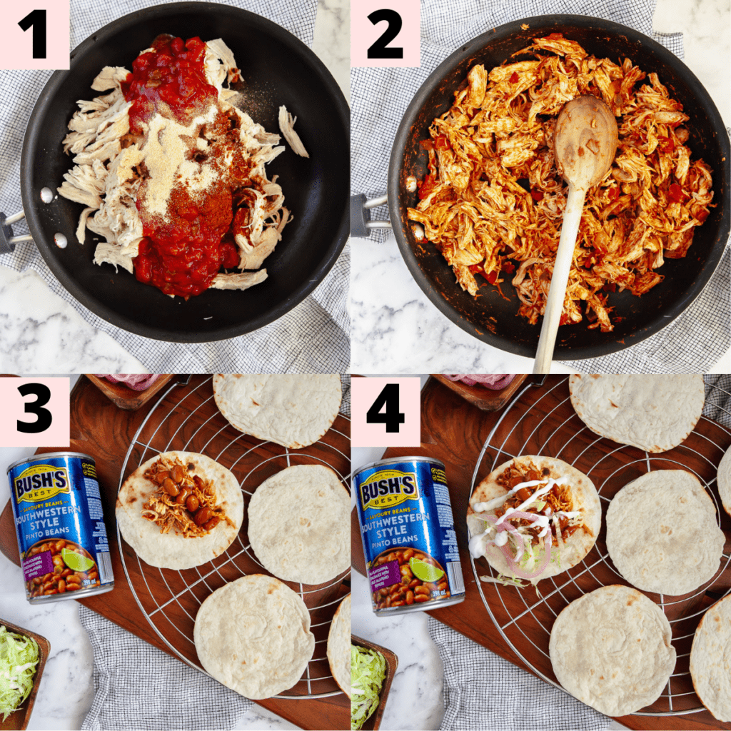 Step by step instructions to prepare tacos