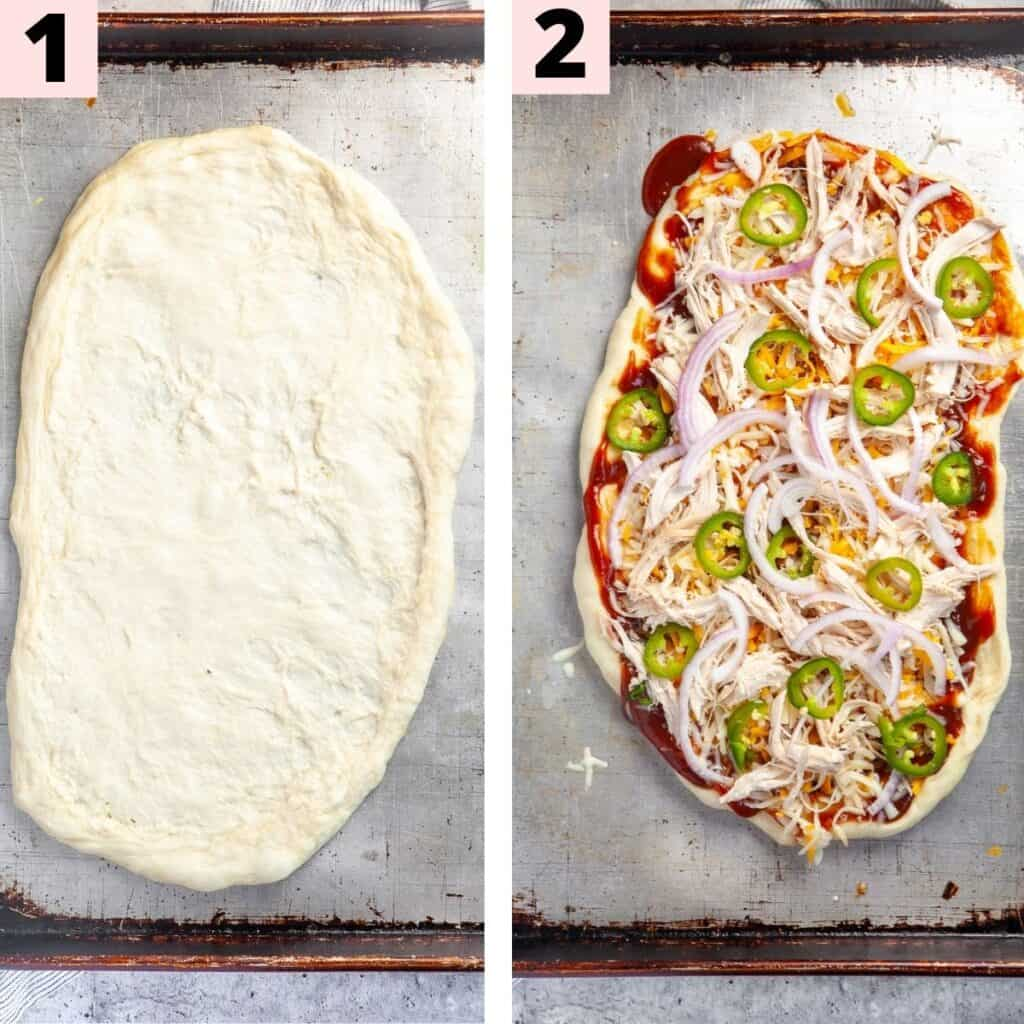 Step by step instructions to prepare flatbread