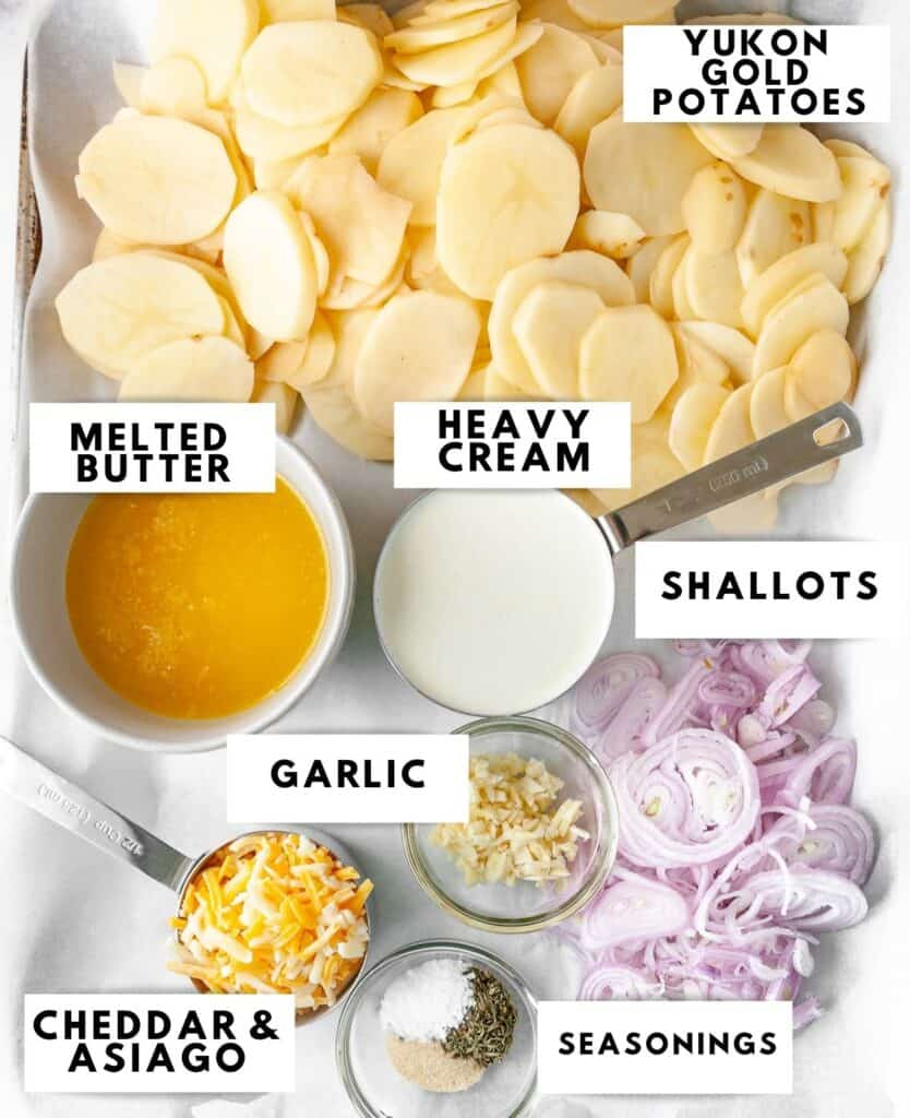 Ingredients laid out for skillet potatoes