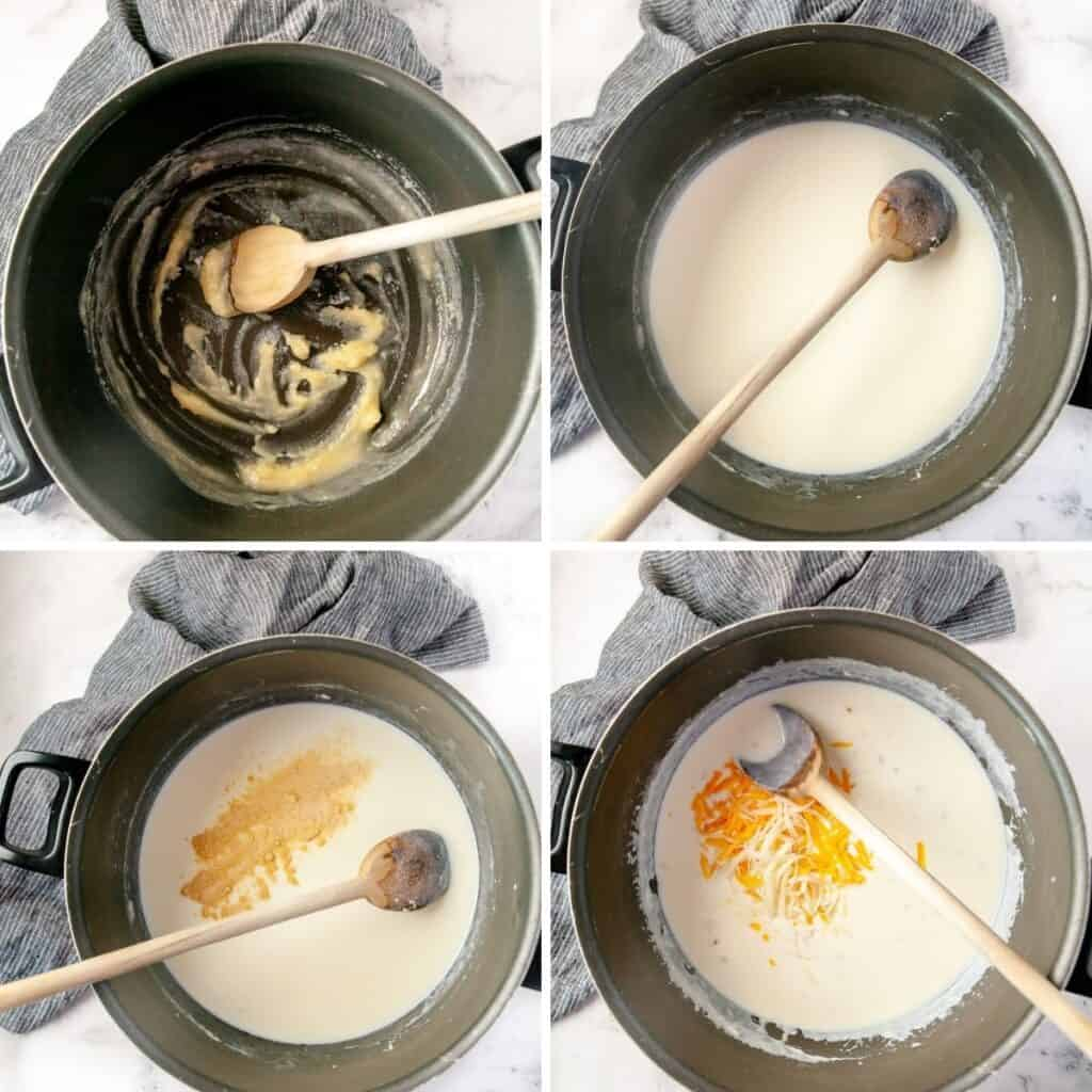 Step by step instructions to prepare the cheese sauce