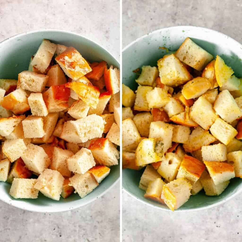 Instructions for preparing croutons